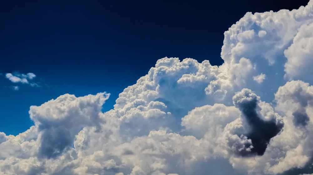 blue blue sky bright cloudiness